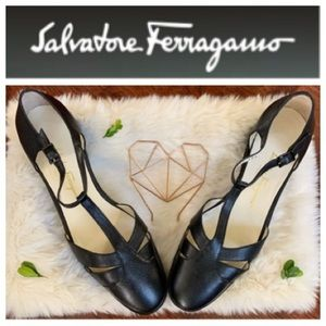SALVATORE FERRAGAMO T- strap Mary Janes